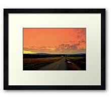 Rural Sunset at the Farm Framed Print