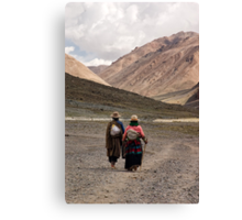 A Day in the Life of Tibet #1 - In The Footsteps of the Pilgrim Canvas Print