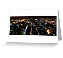 Johannesburg skyline at Night Greeting Card