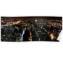 Johannesburg skyline at Night Poster