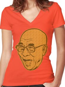 Dalai Lama Disobey Women's Fitted V-Neck T-Shirt