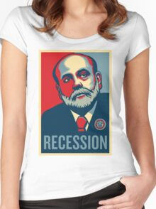 Federal Reserve Chair Ben Bernanke Women's Fitted Scoop T-Shirt