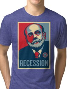 Federal Reserve Chair Ben Bernanke Tri-blend T-Shirt
