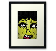 Zombie Scream Framed Print