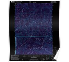 USGS Topo Map Oregon Goat Point 280038 1997 24000 Inverted Poster