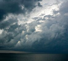 Storm over the Ocean, Nassau, Bahamas by Shane Pinder