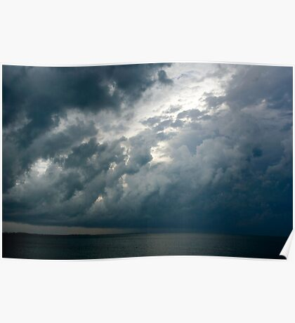 Storm over the Ocean, Nassau, Bahamas Poster