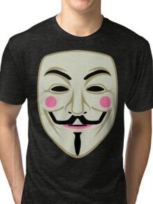 Guy Fawkes Mask Tri-blend T-Shirt
