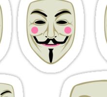 Guy Fawkes Mask Sticker Set Sticker