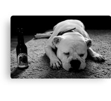 Dog Beer Canvas Print