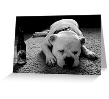 Dog Beer Greeting Card