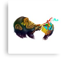 Monkey rubik's cube Canvas Print