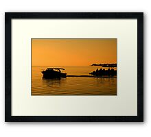 Morning Voyage, Nassau, Bahamas Framed Print