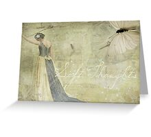 Soft Thoughts .... Gentle Heart Greeting Card