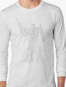 Optimus Prime - Écorché (lineart) Long Sleeve T-Shirt