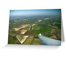 Gliders thermaling over Highclere castle. Greeting Card