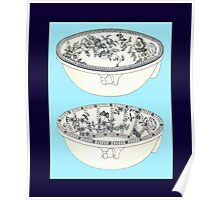 Blue Porcelain Bowls Two Poster