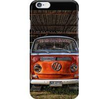 HDR Orange Volkswagen mini van iPhone Case/Skin