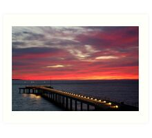 Sunrise Lorne Pier, Great Ocean Rd Art Print