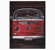 Volkswagen combi Red Kids Tee
