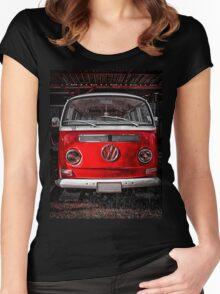 Volkswagen combi Red Women's Fitted Scoop T-Shirt