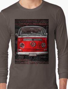 Volkswagen combi Red Long Sleeve T-Shirt