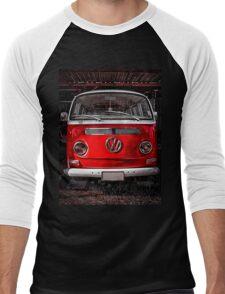 Volkswagen combi Red Men's Baseball ¾ T-Shirt