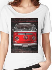 Volkswagen combi Red Women's Relaxed Fit T-Shirt