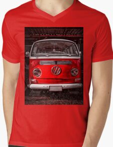 Volkswagen combi Red Mens V-Neck T-Shirt