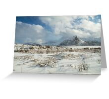The Land of snow Greeting Card