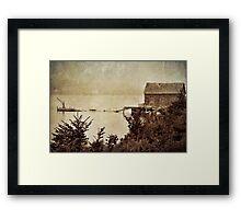 The dock Framed Print