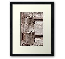 Corner Construction Framed Print