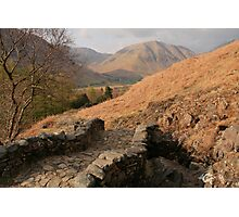 Eskdale Track From Wastwater Photographic Print