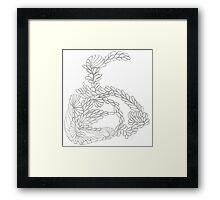 Pencilled Loopies Framed Print