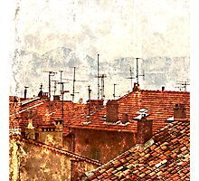 roofs of the old Cannes Photographic Print