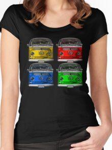 Multi colors Volkswagen kombi Women's Fitted Scoop T-Shirt