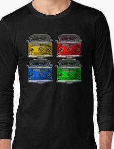 Multi colors Volkswagen kombi Long Sleeve T-Shirt