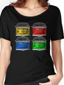 Multi colors Volkswagen kombi Women's Relaxed Fit T-Shirt