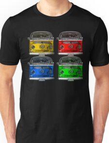 Multi colors Volkswagen kombi Unisex T-Shirt