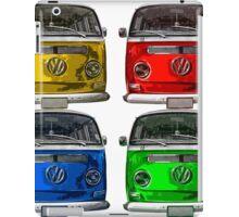 Multi colors Volkswagen kombi iPad Case/Skin