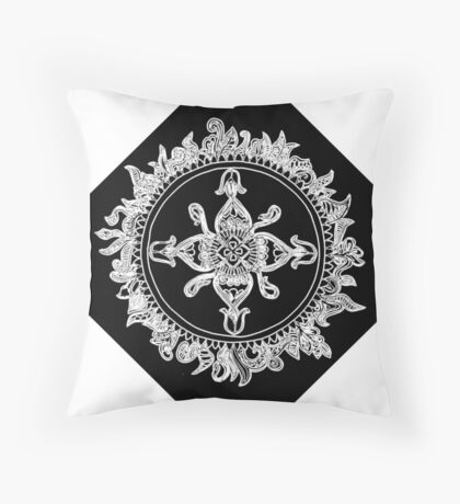 Cryptic mandala Throw Pillow
