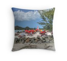 Caribbean Colours Throw Pillow