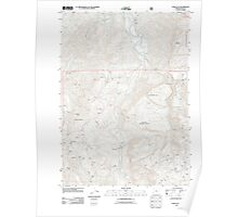 USGS Topo Map Oregon China Flat 20110829 TM Poster
