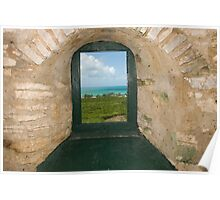 View from inside the Hermitage, Cat Island, Bahamas Poster
