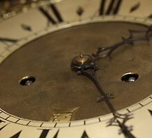 Grandfather clock face by DoorsAndNumbers
