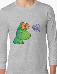 Frog and Dragonfly Long Sleeve T-Shirt
