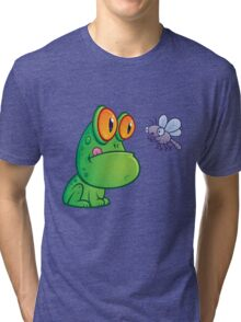Frog and Dragonfly Tri-blend T-Shirt