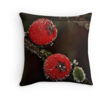 Berries on Ice Throw Pillow