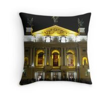 Lvov Opera House at night Throw Pillow