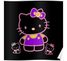 Cute Pink Funny Kitty  Poster